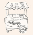 Hotdog Stand vector image vector image