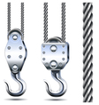 Crane Hooks and Steel Rope vector image