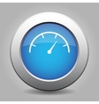 blue metal button with dial symbol vector image