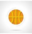 Basketball ball flat color design icon vector image
