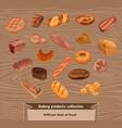 colorful sketch fresh bread set vector image