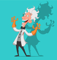 crazy scientist vector image