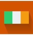 Flat flag of Ireland vector image