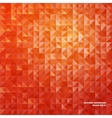 Orange abstract background of triangles vector image