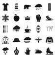 outdoor icons set simple style vector image