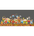 Circus Performance Parade Crowd Vector Image