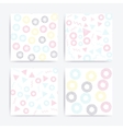 Color universal geometric seamless patterns set vector image