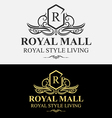 Heraldic Royal Luxurious Crest Logo vector image