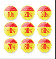 discount sale stickers collection vector image