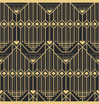 Abstract art deco modern style seamless pattern vector image