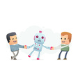 people want to get himself the robot vector image vector image