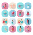 Pregnancy Icons Flat vector image