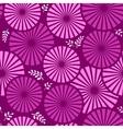 retro floral violet background vector image