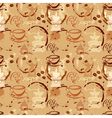 Seamless pattern with coffee cups beans grinder vector image