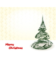 style xmas card vector image vector image