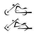 motorbike symbols set vector image vector image