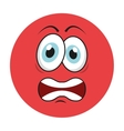 angry cartoon icon vector image