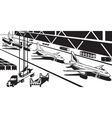 Aviation industry plant vector image