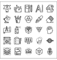 Graphic design thin line icons set vector image