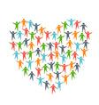 Heart of People Diversity logo vector image