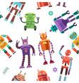 kids toy robot humanoid spaceman cyborg vector image