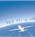 san francisco skyline flight destination vector image