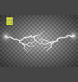 set of lightnings thunder-storm and lightnings vector image
