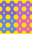 set of seamless patterns of yellow suns vector image