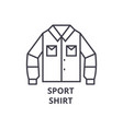 sport shirt line icon outline sign linear symbol vector image