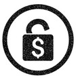 unlock banking lock rounded icon rubber stamp vector image
