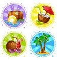 Vacation and travel background Summer symbols vector image