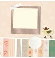 Design elements for scrapbook vector image