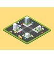 isometric urban city vector image