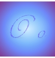 Letters O with Polygonal Pattern vector image