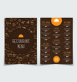 brown and orange template with drawings of hands vector image