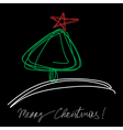Christmas tree with the star vector image
