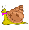 Smiling Cartoon Snail vector image