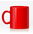 Red cup vector image vector image
