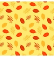 Autumn fallen leaves seamless pattern vector image vector image