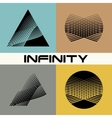 Set Abstract infinity logo design template vector image