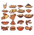 all food collection vector image