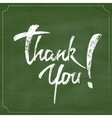Thank You Chalk Hand Drawing Greeting Card over vector image vector image