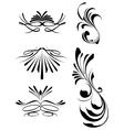 decorative swashes vector image