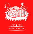 nest eggs card red vector image vector image