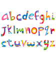 lower case fun alphabet vector image vector image