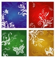 Floral and flower ornaments vector image