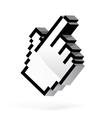 Hand arrow cursor vector image