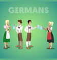 isometric german people in traditional clothes vector image
