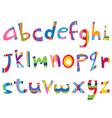 Lower case fun alphabet vector image