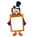 man holding up sign vector image